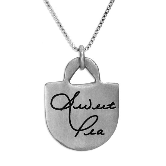 Love Tote Handwriting Necklace