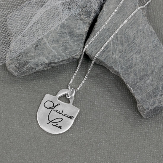 Handwriting Remembrance Necklace