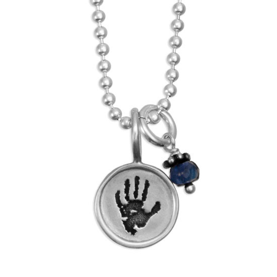 Baby's Footprints on Necklace