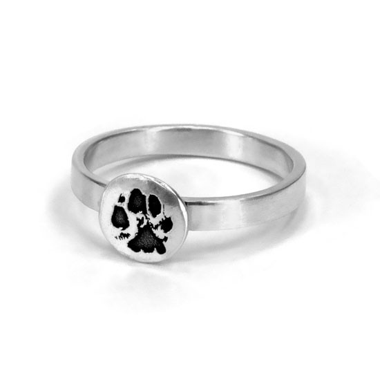 Paw print jewelry ring