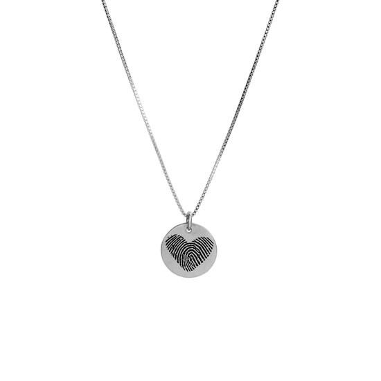 Silver fingerprint necklace