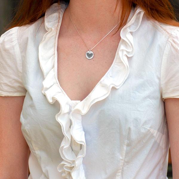 Custom Silver fingerprint necklace