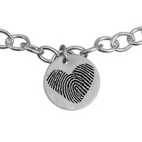 Custom fingerprint charm bracelet