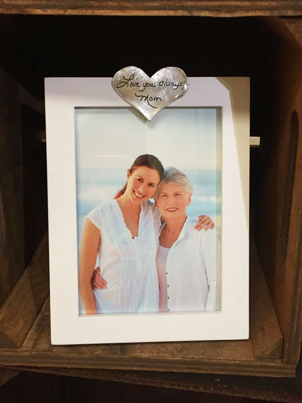 Custom handwriting on photo frame memorial gift