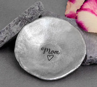 Personalized handmade pewter jewelry dish