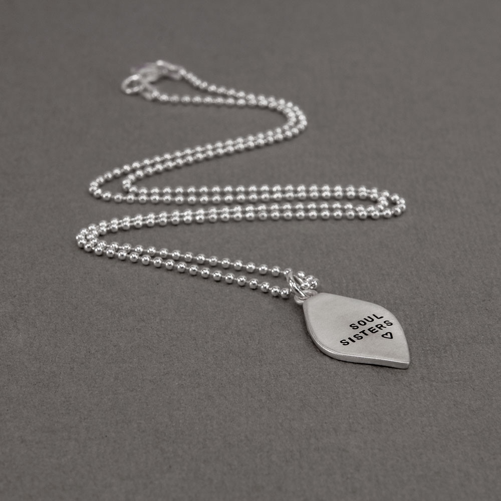 Soul sisters necklace from the side