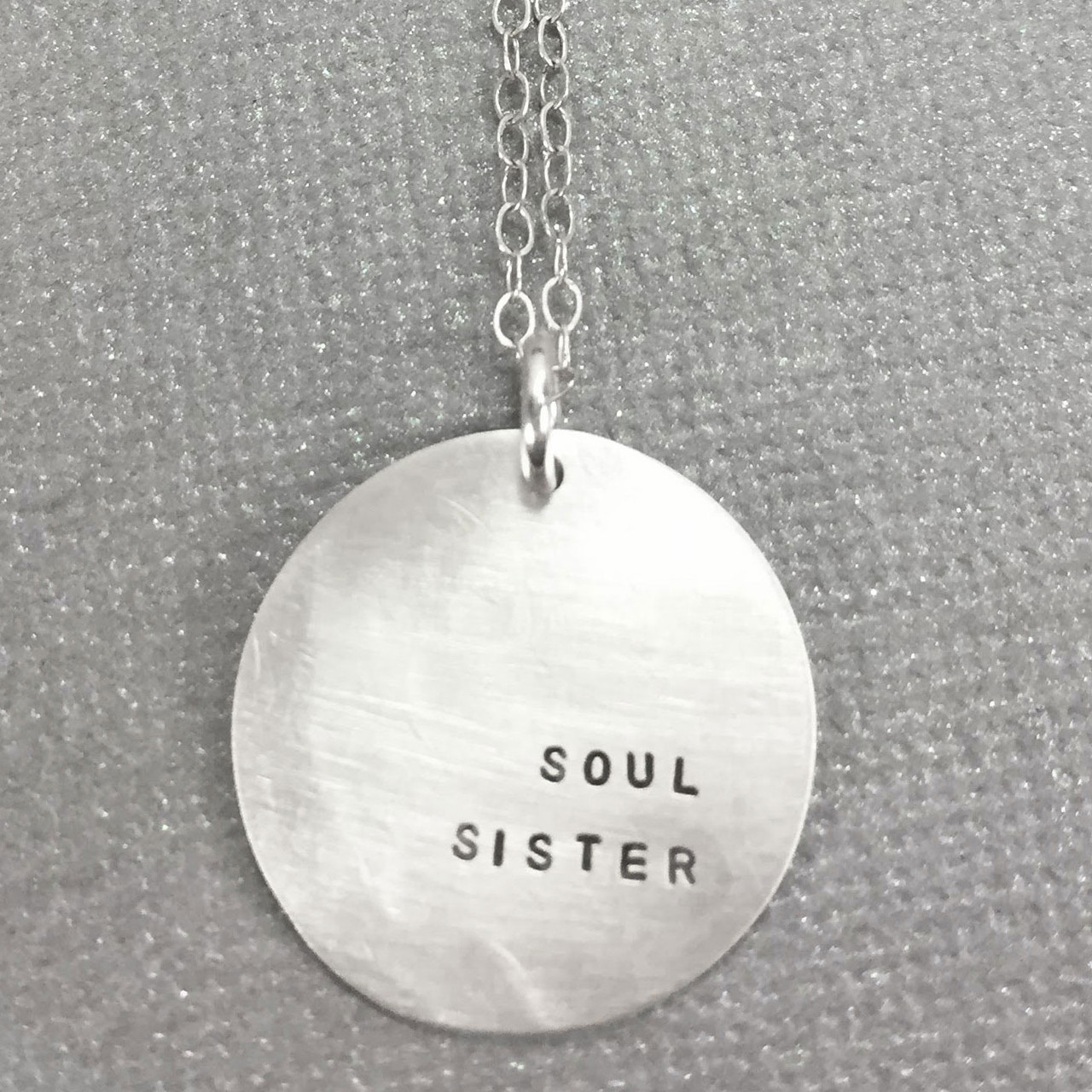 Sterling silver soul sister necklace bridesmaid gift