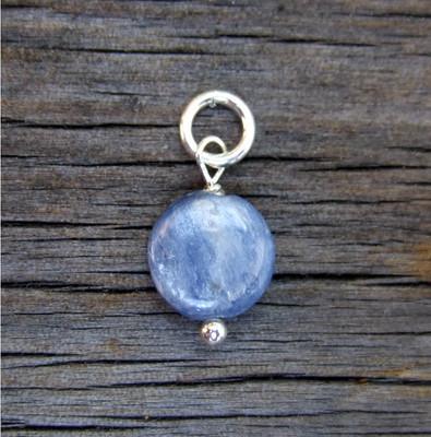 Blue Kyanite Coin Bead (Sept)