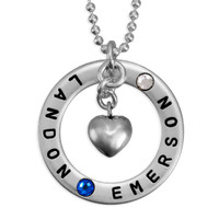 Forever Love Necklace with Birthstones