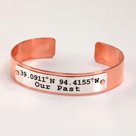 Custom personalized copper cuff