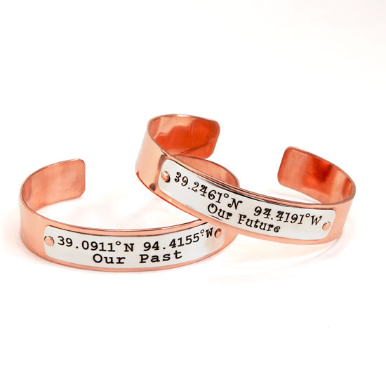 Custom personalized copper cuff