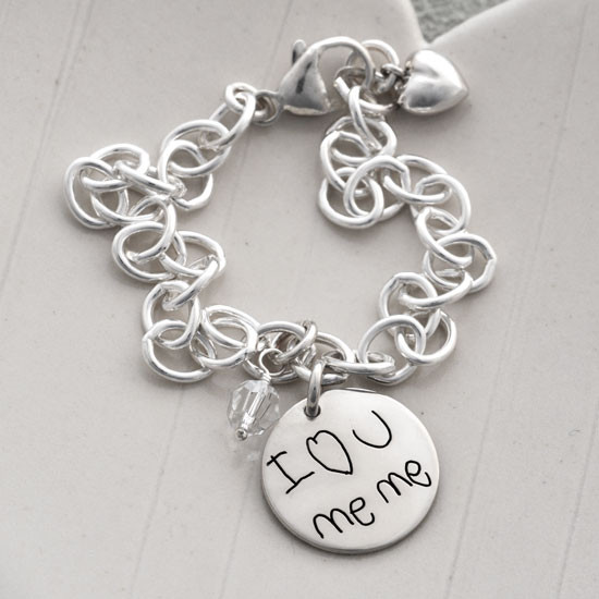 Custom Handwriting Bracelet made from your own handwriting or handwriting of loved one