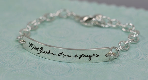 Signature bracelet made from handwriting