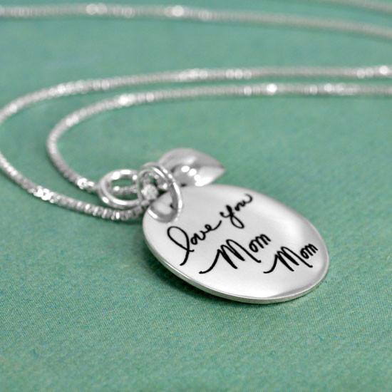 Custom Oval Charm for Handwriting Jewelry or Artwork Jewelry