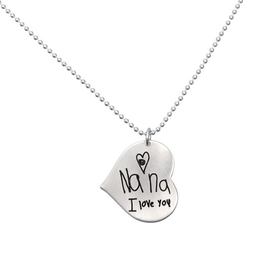 Nana handwriting necklace
