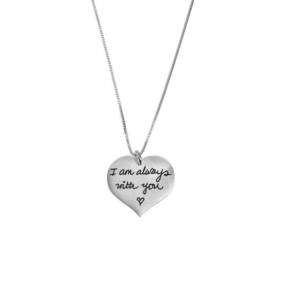 Handwriting heart pendant