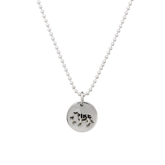 Dog Lover with Name Charm Necklace