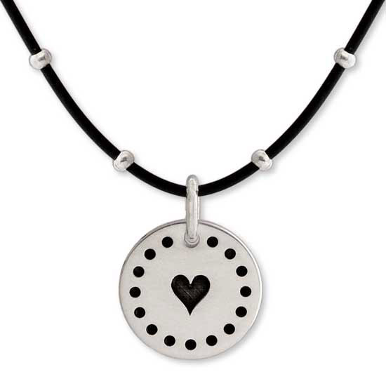 Dotted Border Sterling Silver Discs<br> 5 Charm Sizes