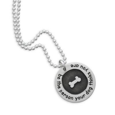 Etched Bone Circle of Love Necklace
