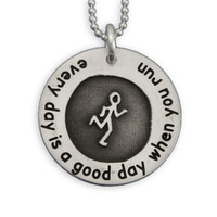 Etched Runner Necklace