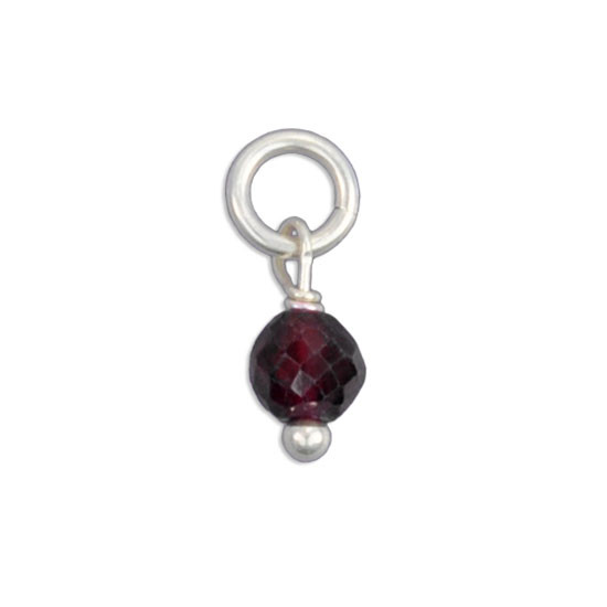Faceted Garnet Stone (Jan)