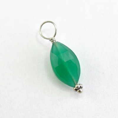 Faceted Green Onyx Marquis Stone (May)