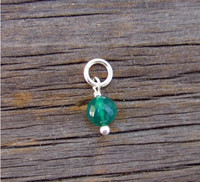 Faceted Green Onyx Stone (May)