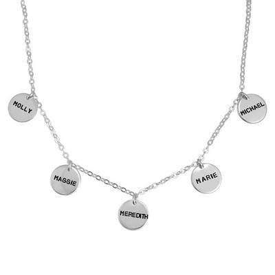 Personalized Floating Disc Necklace