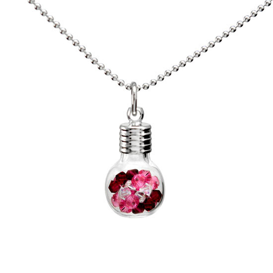 Glass Vials of Birthstones Necklace