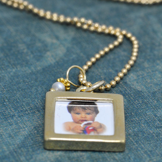 Mommy jewelry photo frame pendant necklace gold double sided photo frame necklace aloadofball