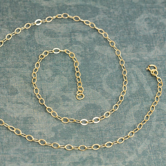 Gold Flat Cable Chain