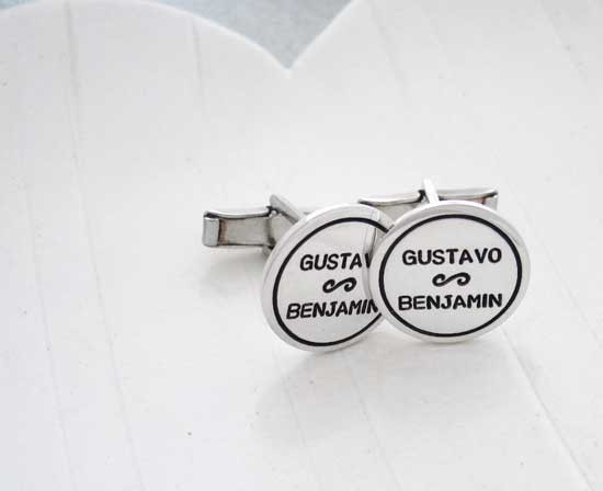 Hand Stamped Cuff Links