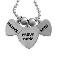 Heart Name Necklace - 2 charm sizes