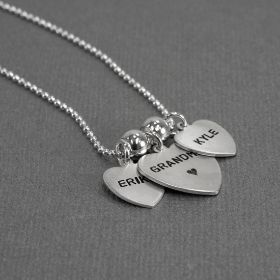 Grandma necklace hand stamped
