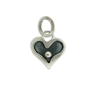 Heart with Dot Charm