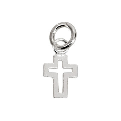 Sterling Silver Cut-out Cross
