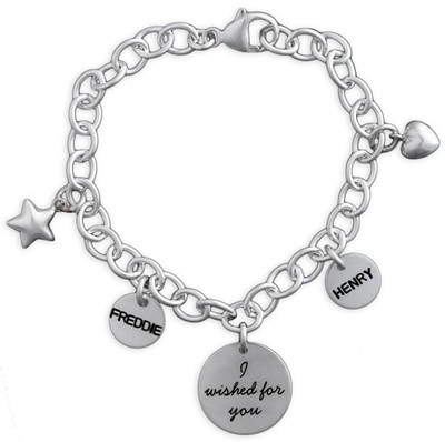 Hand stamped I Wished For You Bracelet