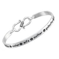 Hand-Stamped Inspiration Bracelet in Sterling Silver - Bracelet for Mom