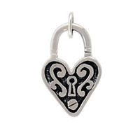 Large Heart with Keyhole Charm