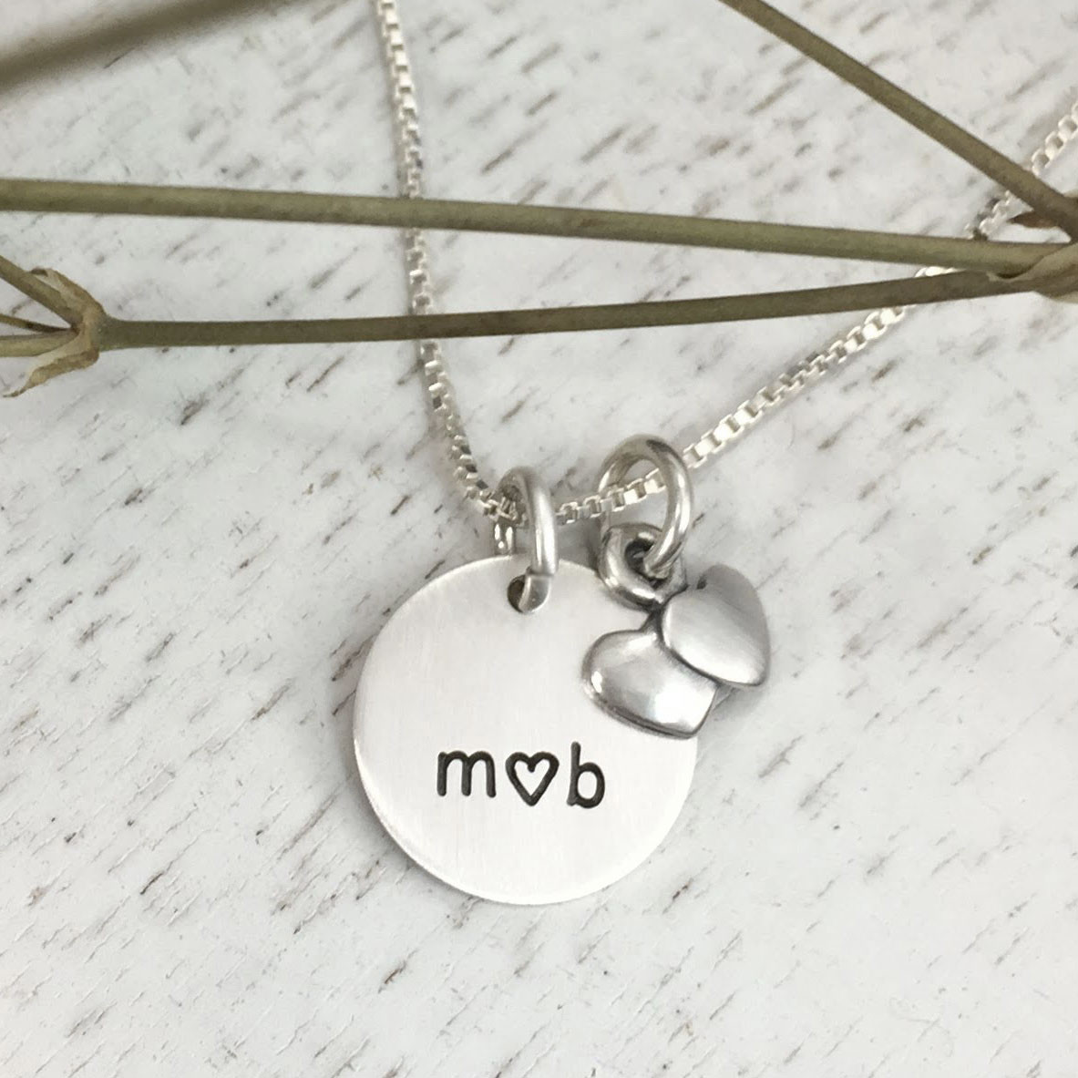 Sterling silver You and Me Bridal gift Necklace