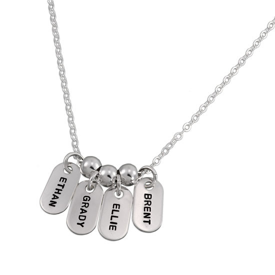 Mini Tag Names with Spacer Beads