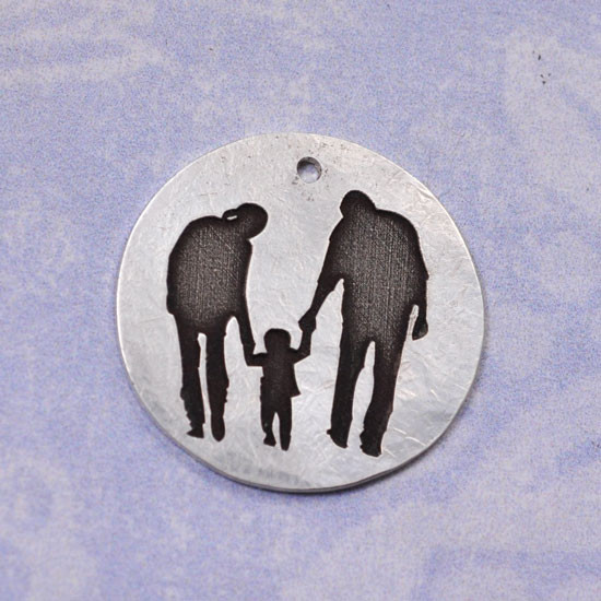 Photo Silhouette Necklace
