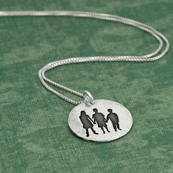 Your Silhouette on a Necklace