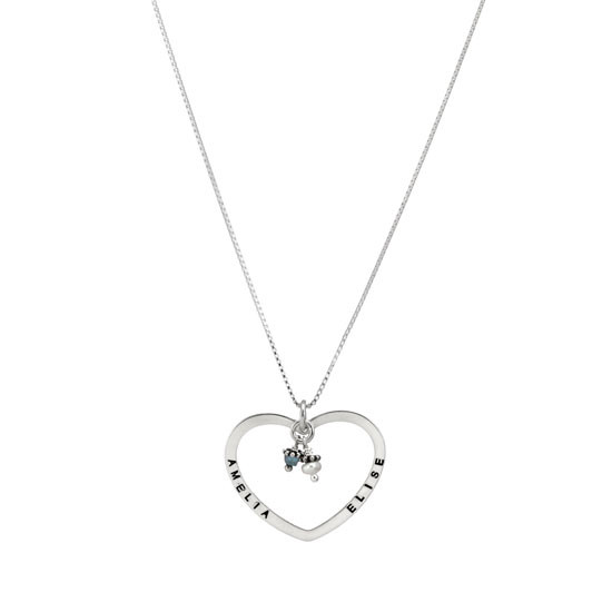 Open Heart Charm Necklace