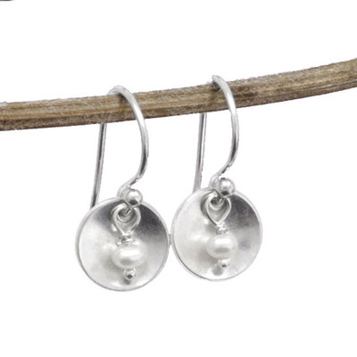 Pearl and Sterling Earrings