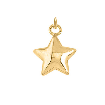 Gold star charm to hang on a hand stamped necklace or handwriting necklace
