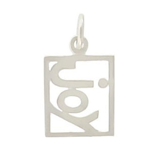 Rectangle Joy Charm