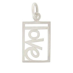 Rectangle Love Charm