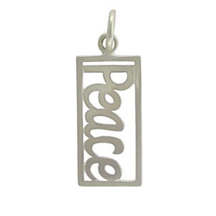 Rectangle Peace Charm