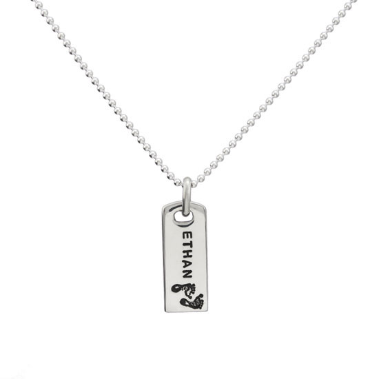 Rectangle Mom Necklace